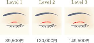 Level1---89,500円 Level2---120,000円 Level3---149,500円
